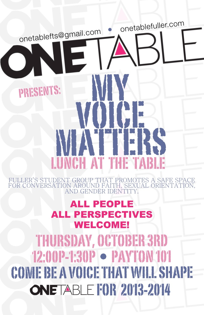 Dinner at The Table: My Voice Matters