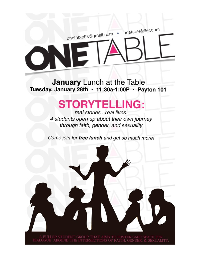 January Lunch at the Table: Storytelling Part II